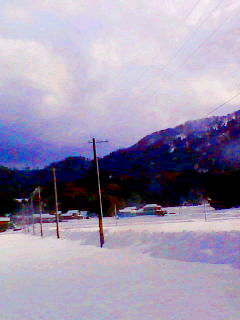カニと...雪。